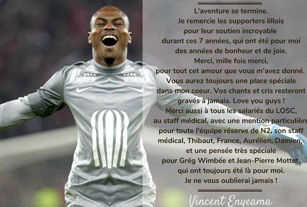 Lille Release Enyeama After 7 Years
