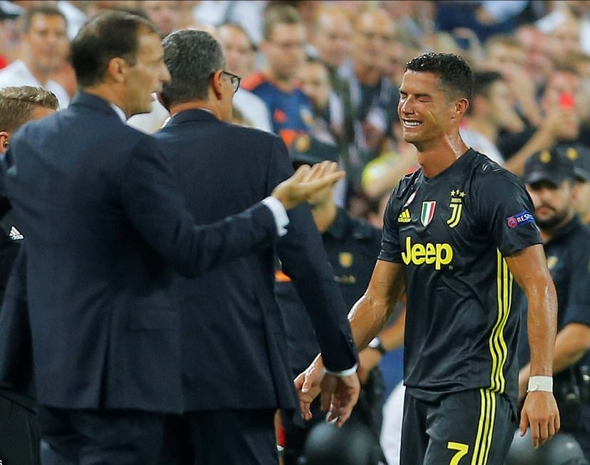 Allegri Calls For VAR In Champions League After Ronaldo's Red Card
