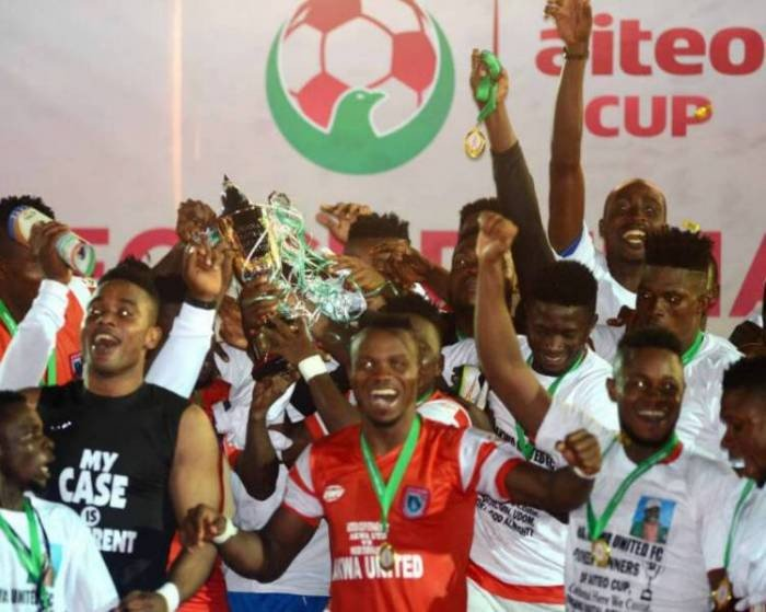 Akwa Ibom Governor Rewards 2017 Aiteo Cup Champions Akwa United With N70m