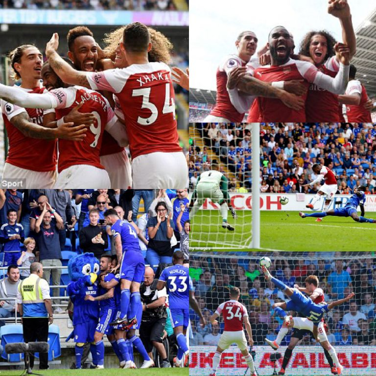 Iwobi Absent As Arsenal Edge Cardiff City In 5-Goal Thriller