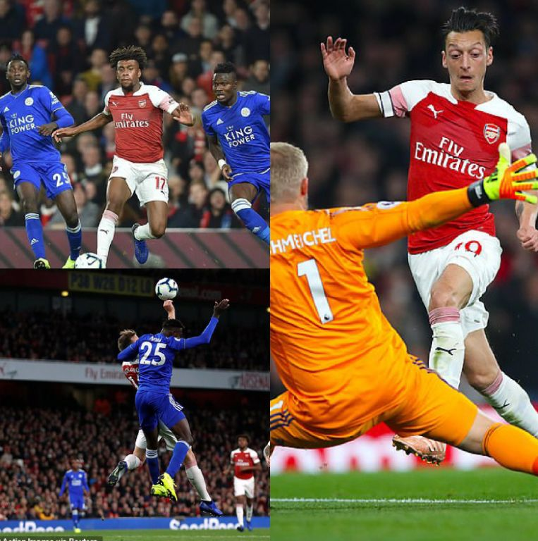 Iwobi Outshines Ndidi, Iheanacho As Ozil-Inspired Arsenal Thrash Leicester 3-1