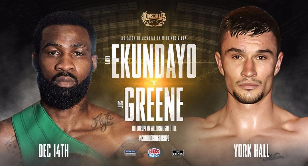 Ekundayo To Face Greene In IBF Welterweight Title  Defence