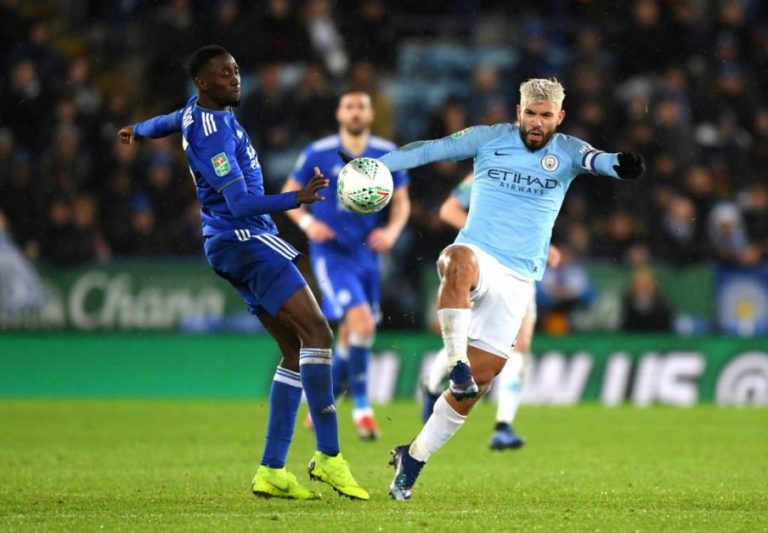 Ndidi Celebrates Leicester's Win Vs Manchester City