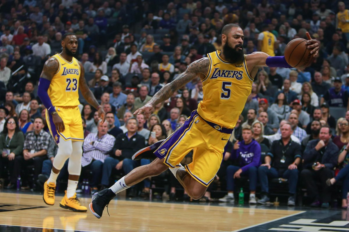 Lakers Hit By Ball Blow