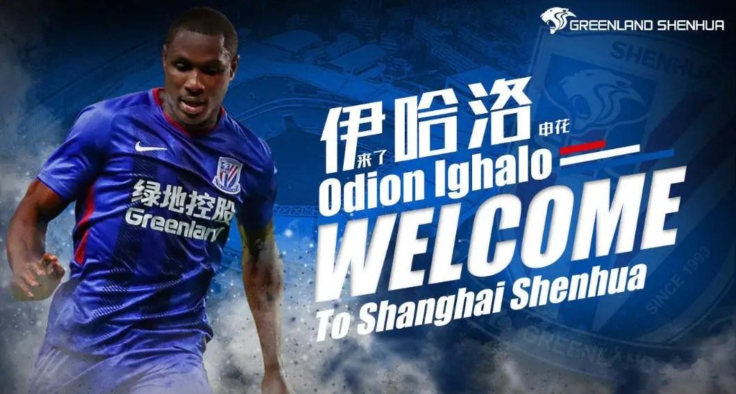 Ighalo Joins Shanghai Shenhua