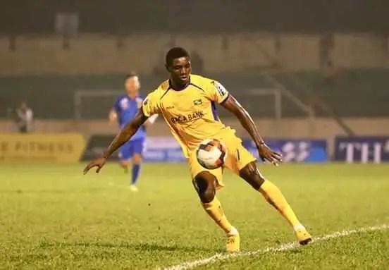 Former Abia Warriors Star Olaha Scores Wonder Goal In Vietnam (Video)