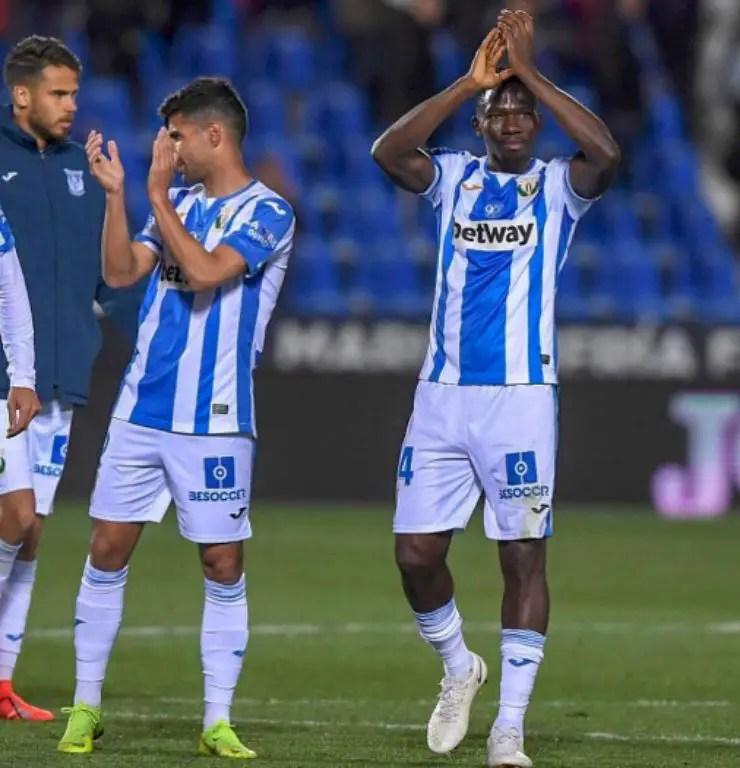 Omeruo Celebrates Leganes Win Over Simon's Levante
