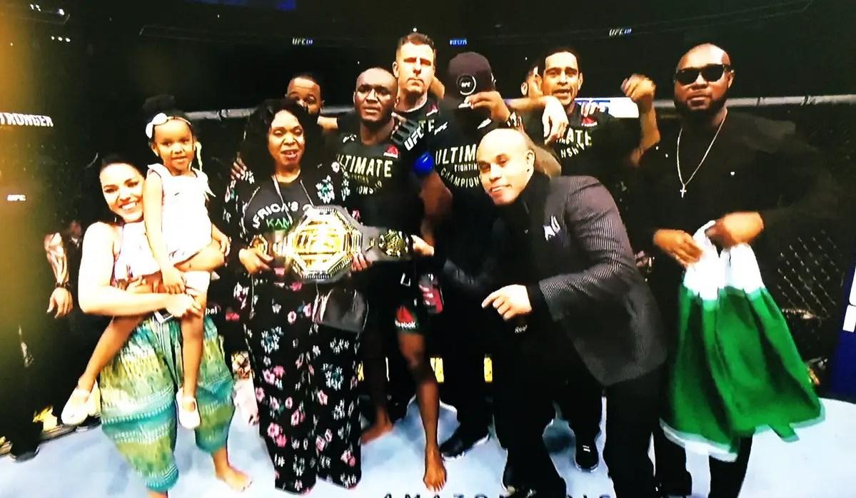 Usman Beats Woodley, Becomes First African-Born UFC Welterweight Champion