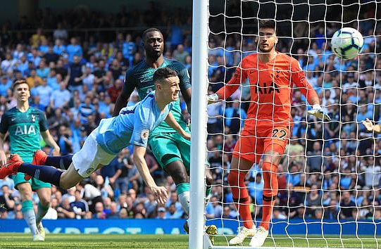 Foden's Solitary Winner Against Spurs Sends Man City  Atop EPL