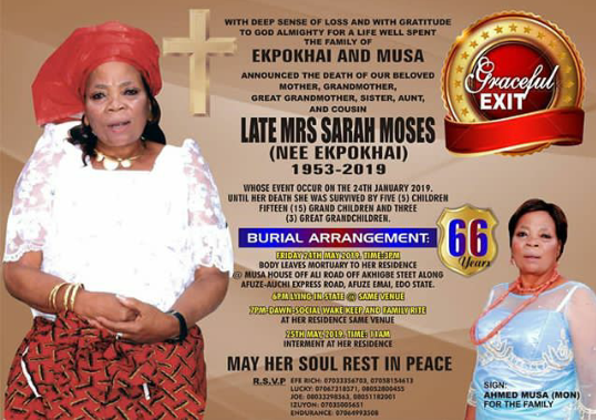 Musa's Mother Goes Home May 24th