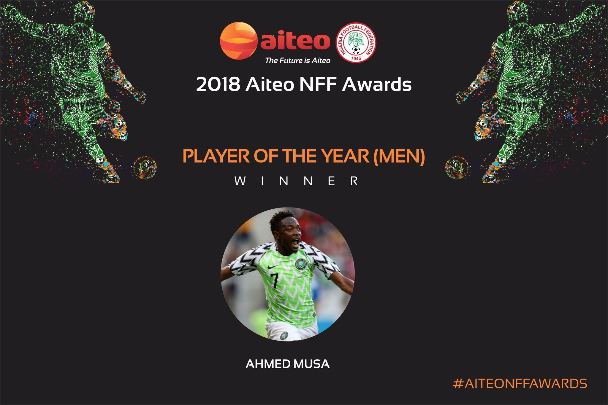 Musa Thrilled To Win 2018 Nigerian Player Of The Year Award
