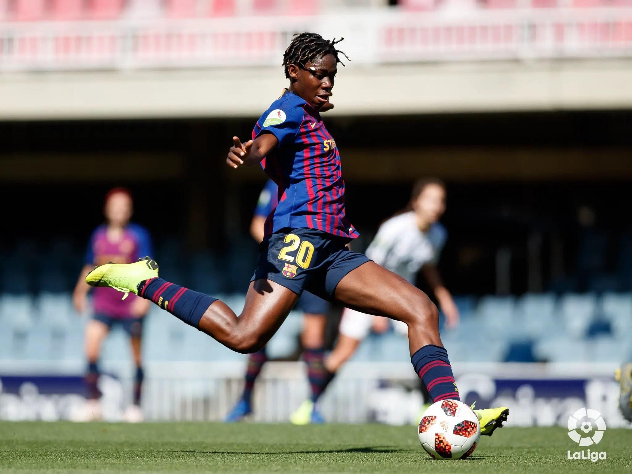 Oshoala Happy To Score Brace For Barcelona Ladies In Win Over Sevilla