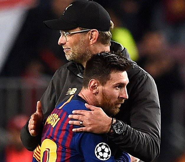 UCL: Klopp Labels Liverpool Showing In Defeat At Barcelona 'Best Away Performance'