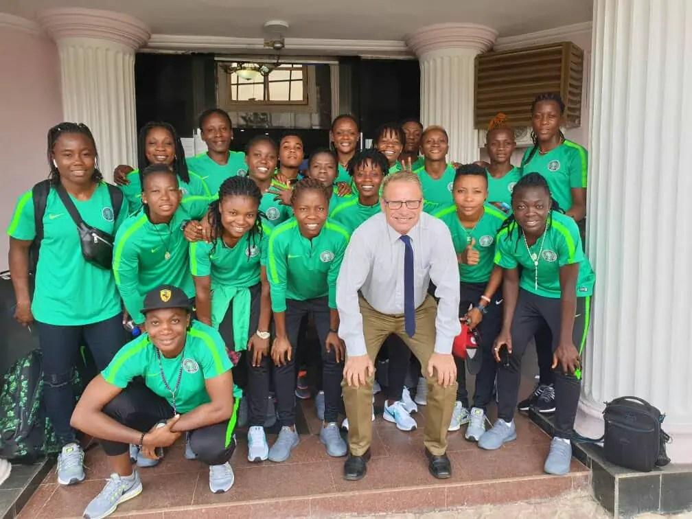 Super Falcons Arrive Abidjan For  Women's WAFU Cup Of Nations