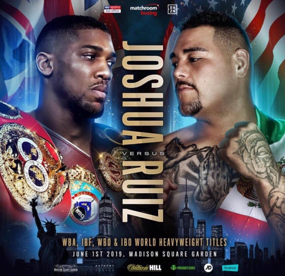 Joshua To Face Confident Andy Ruiz Jr For US Debut Fight