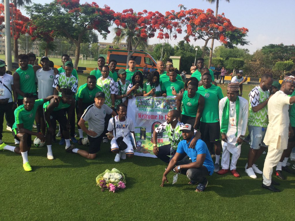 Eagles Storm Alexandria, Assure Nigerians: 'We Won't Disappoint At AFCON 2019'