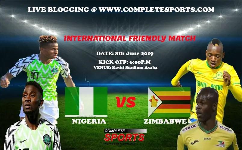 Live Blogging: Nigeria Vs Zimbabwe (Pre-AFCON Friendly)
