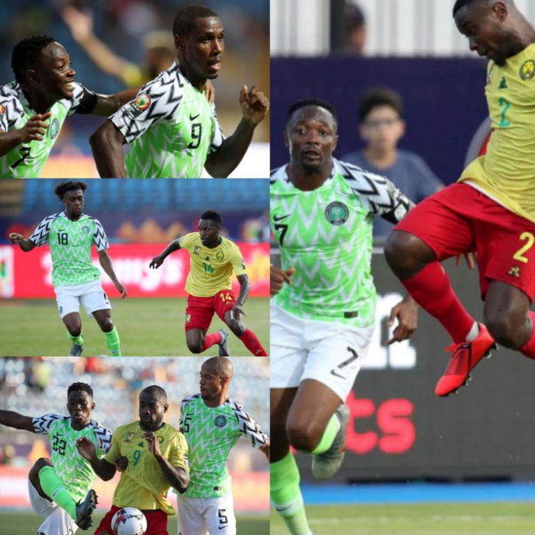 Dominant Eagles Thump Hard-Fighting Cameroon's Lions 3-2 In Battle Of Alexandria; Reach AFCON 2019 Q-Finals
