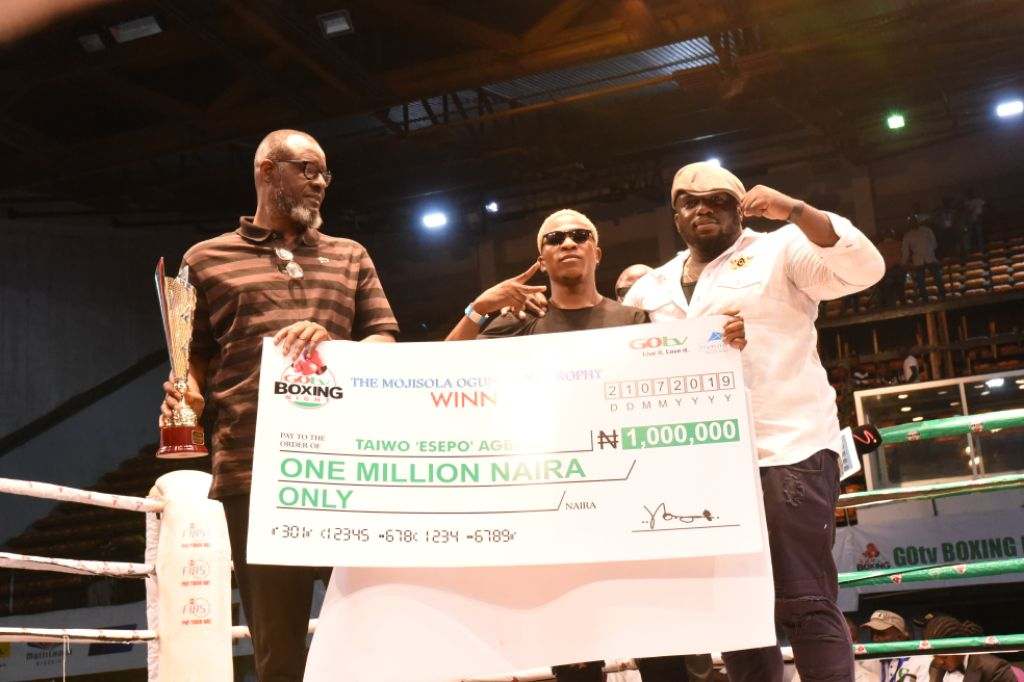 Agbaje Is GOtv Boxing Night 19 Best Boxer, Pockets N1m Cash Prize