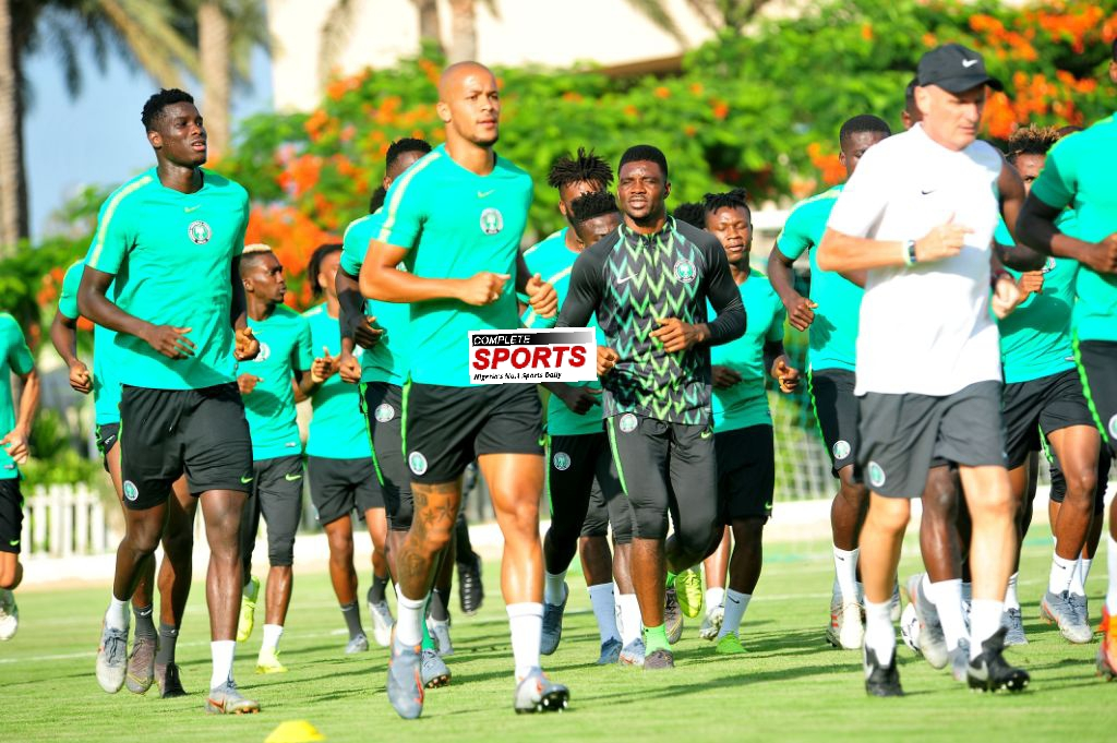 PHOTOS – Super Eagles' Training Session Friday Ahead Cameroon Clash