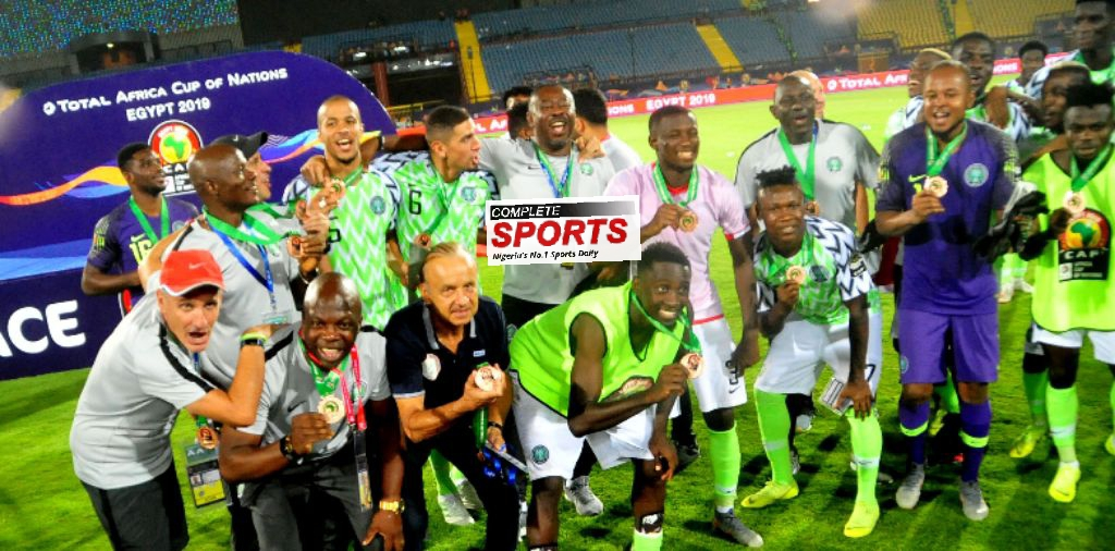 Rohr Thrilled To Win First AFCON Medal, Hails Eagles' Winning Mentality