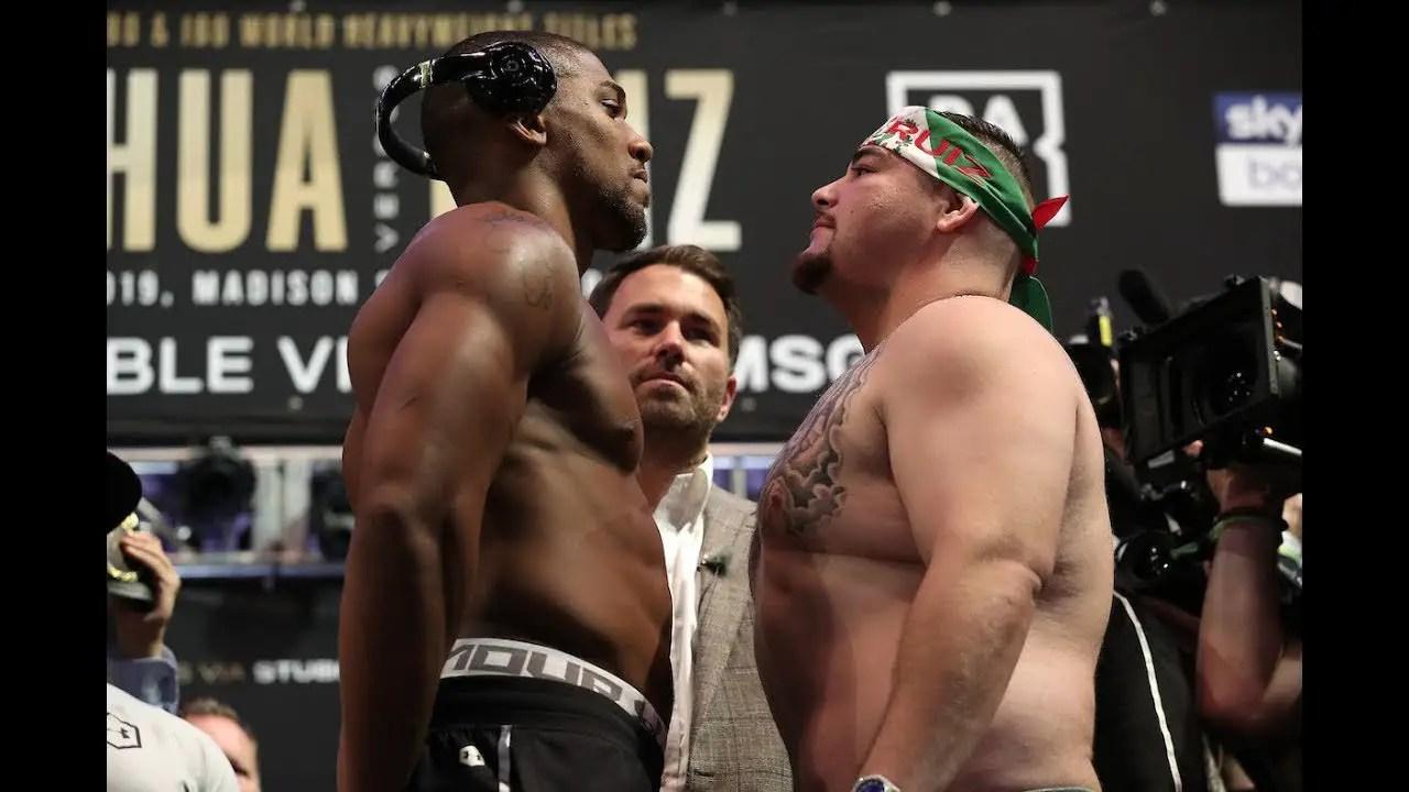 Joshua,  Ruiz Jr In Intense Face Off Ahead Rematch In Saudi Arabia