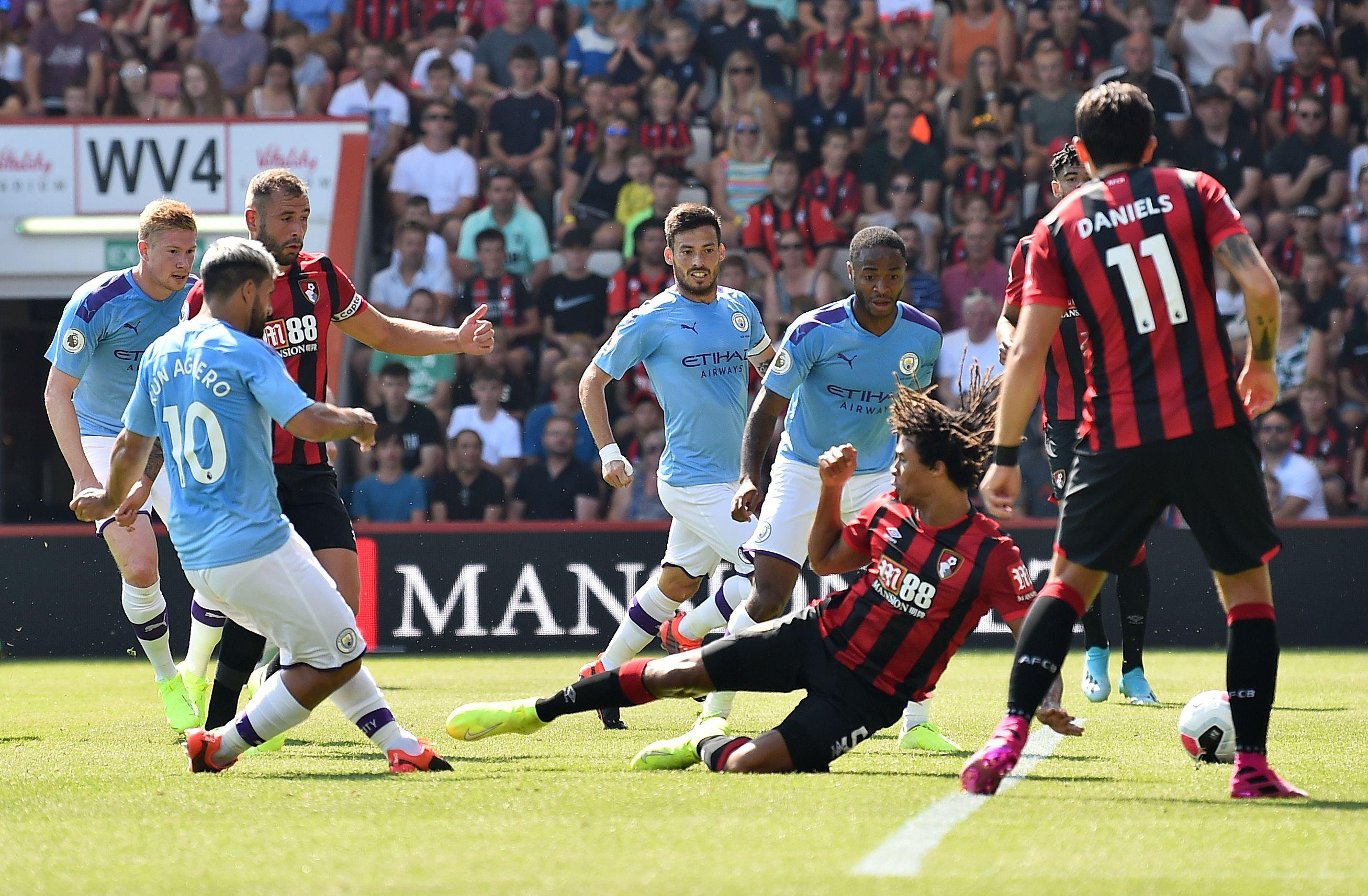 EPL: Manchester City Pip Bournemouth 3-1, Move To Second Position