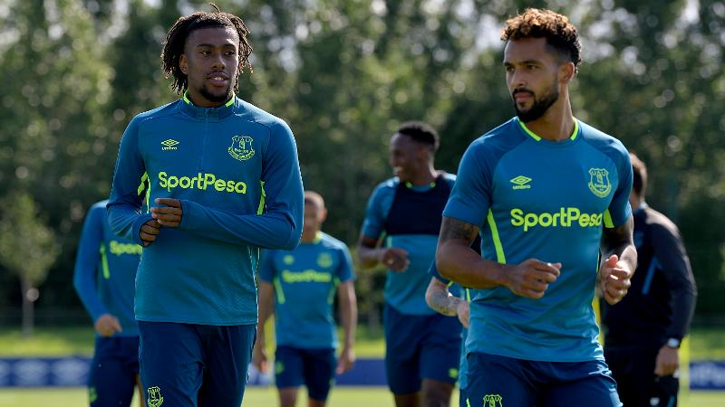 Iwobi Starts Everton Training, Reunites With Ex-Arsenal Teammate Walcott