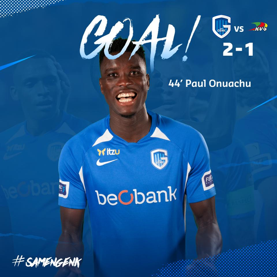 Belgian League: Onuachu Scores In Genk Home Win Vs Oostende