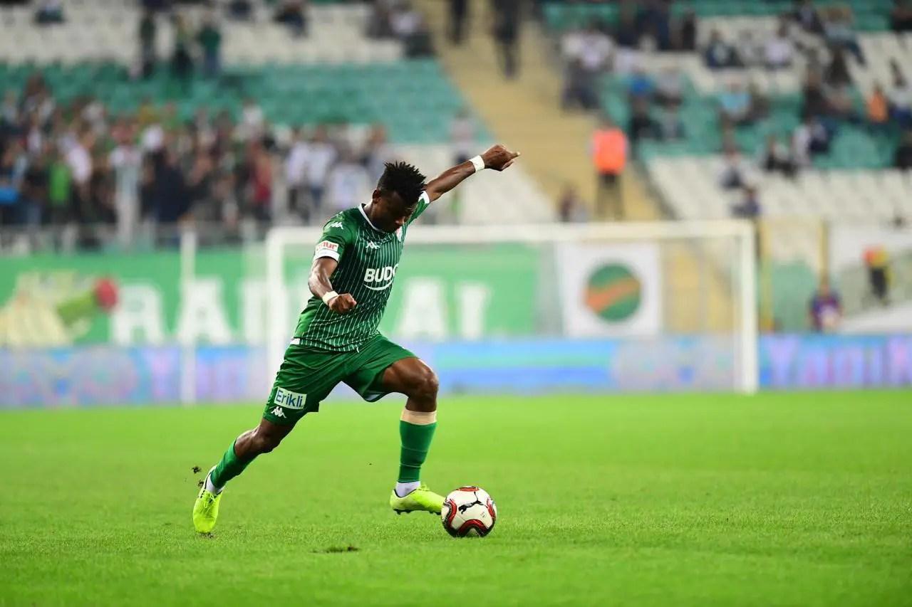 Abdullahi Backs Bursaspor To Maintain Perfect League Run In Turkish Lig 1