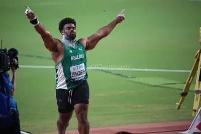 chukwuebuka-enekwechi-17th-iaaf-world-championships-shot-put-athletics-divine-oduduru-blessing-okagbare