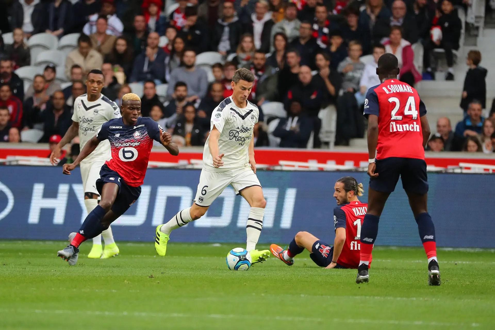 Roundup: Osimhen Stopped As Lille Pip Kalu, Maja's Bordeaux; Awaziem Stars In Leganes' Win