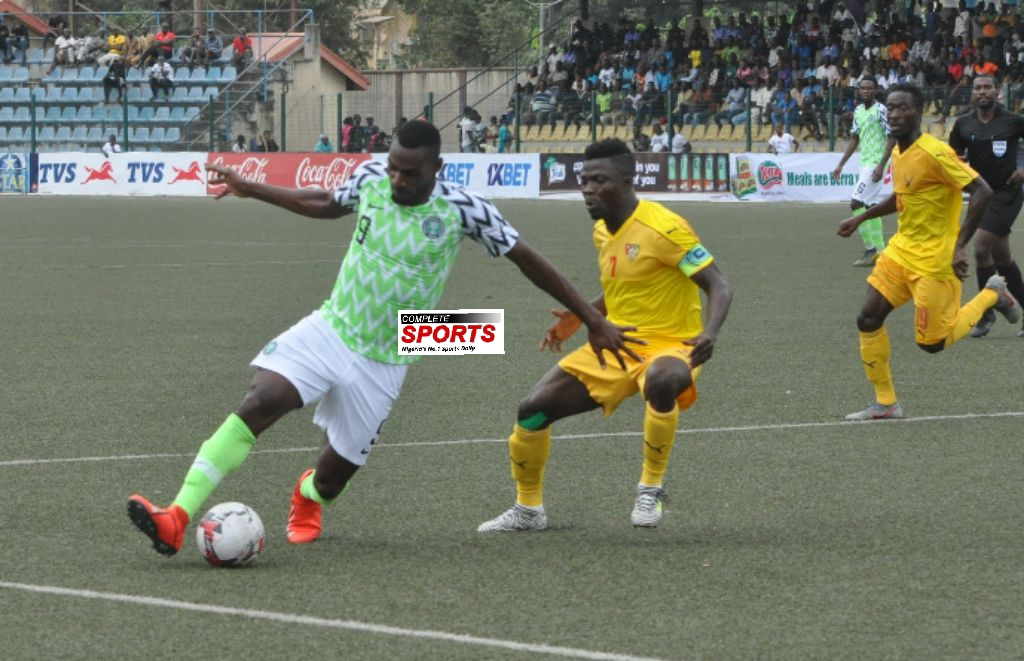 Super Eagles B Lose 4-3 On Aggregate To Togo, Crash Out of CHAN 2020