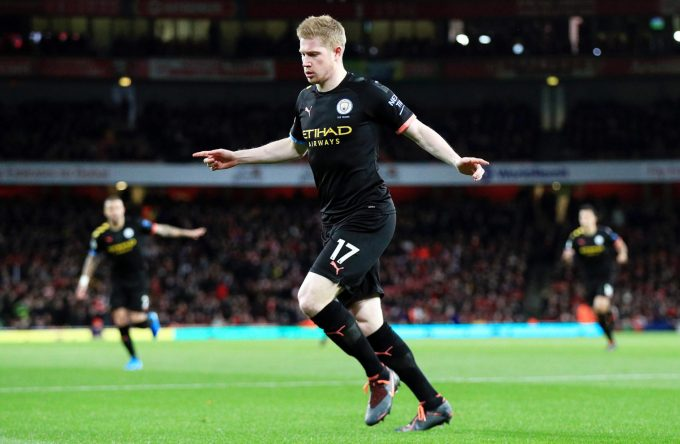 Kevin De Bruyne Brace inspires City to Victory o