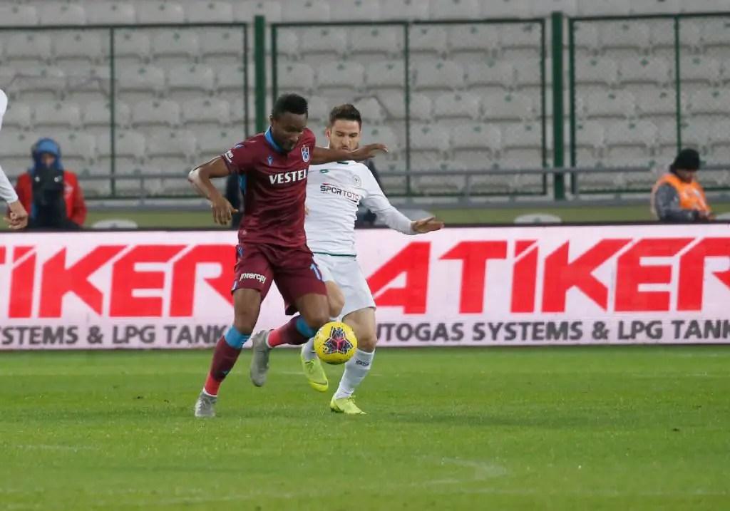 Nwakaeme Bags Assist, Mikel Also In Action As Trabzonspor Win At Konyaspor
