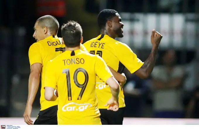 Greek Cup: Ideye Scores As Aris Thessaloniki Win; Qualify For Quarter-final