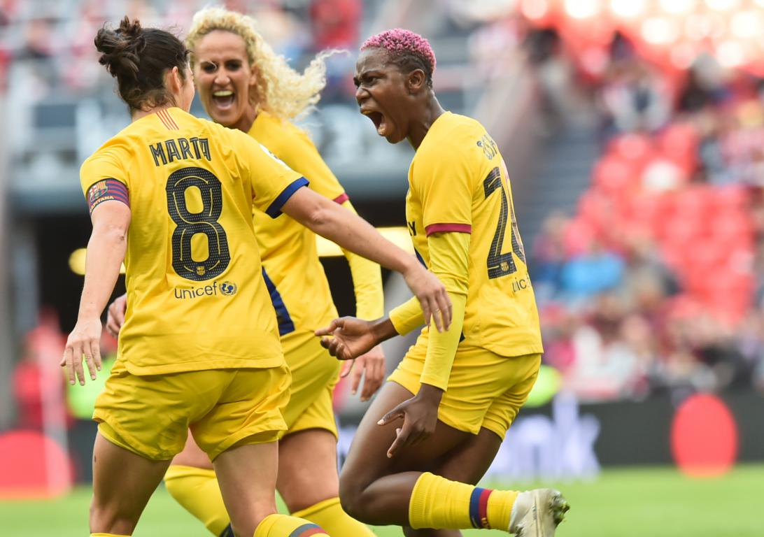 Super Sub Oshoala Bags Brace In Barcelona Ladies' Away Win