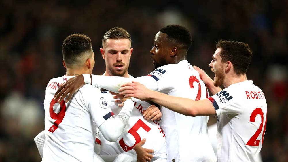 Salah, Oxlade-Chamberlain's Goals Sink West Ham As Liverpool Go 19 Points Clear