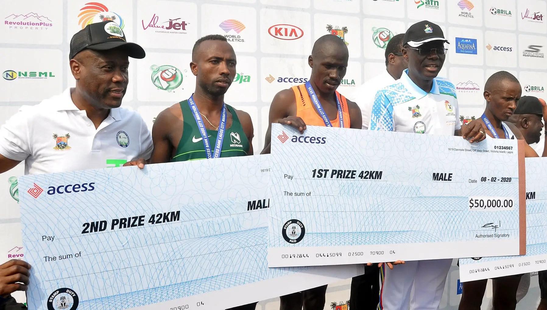 Access Bank Lagos City Marathon: Kenya's Tumor, Cherop Win With New Records