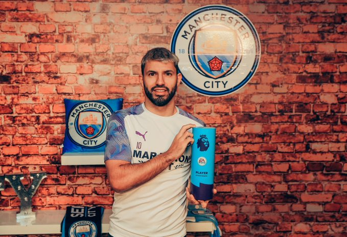 Aguero Wins Premier League Player Of The Month For The Seventh Time