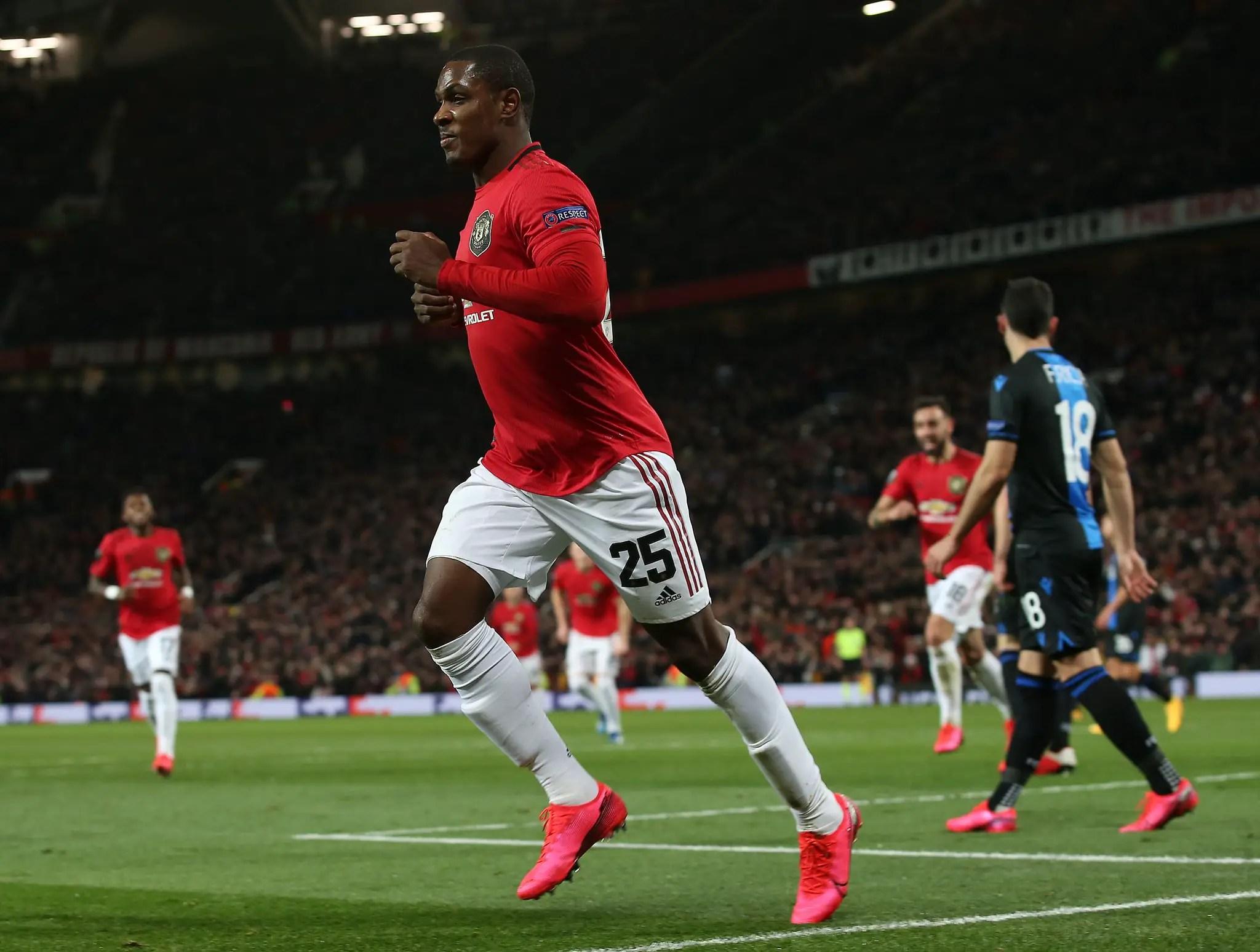 UEFA Celebrates Ighalo's First Man United Goal InWin vs Club Brugge
