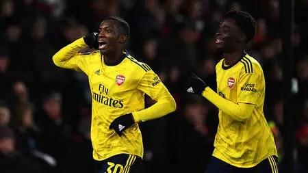 Nketiah: What I Told Saka Before Scoring Against Everton