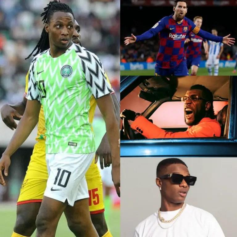 Aribo's Favourites: Messi, Burna Boy, Wizkid, Naira Marley, London