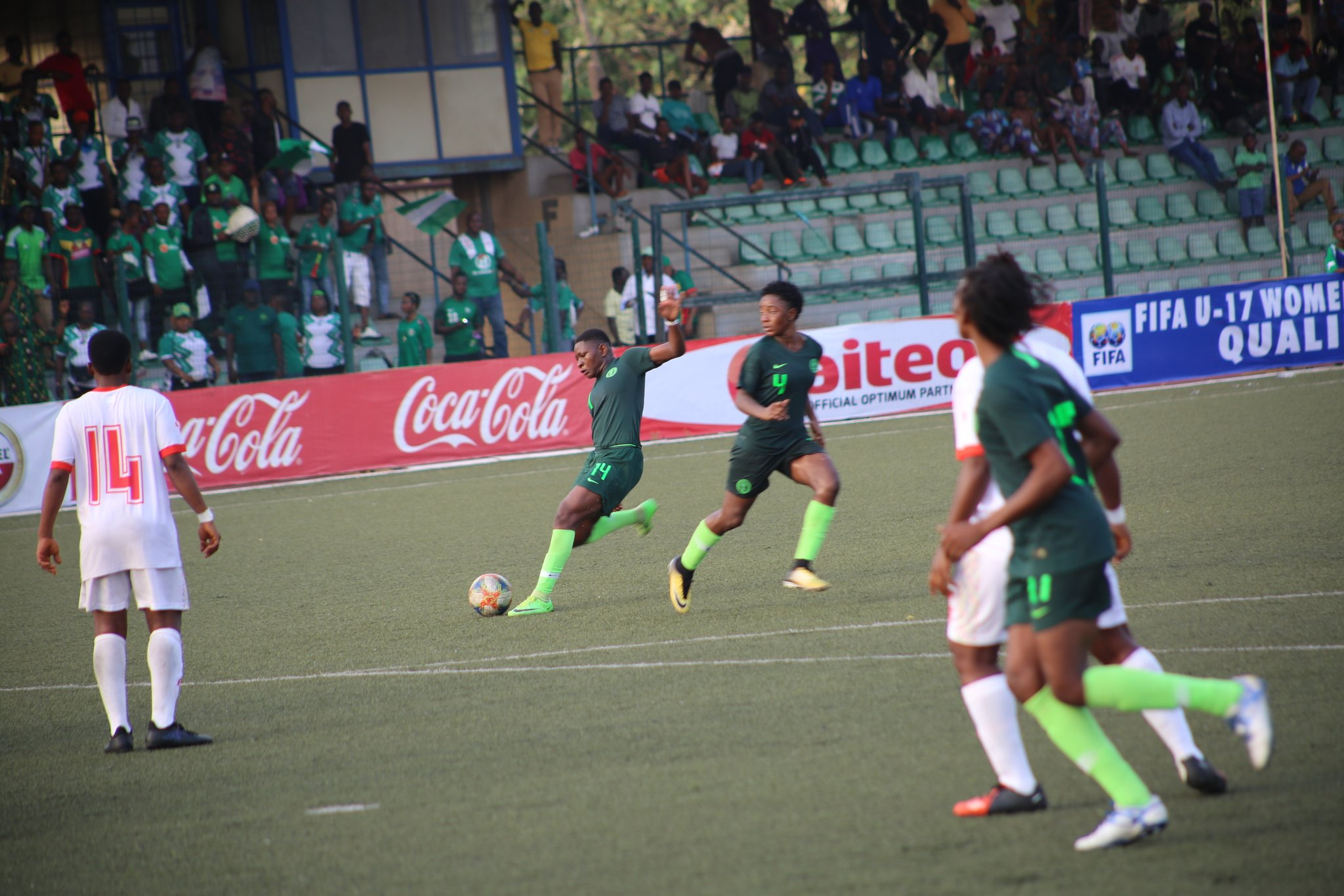 U-17 W/Cup Qualifier: Flamingos Outclass Guinea; To Face Ghana In Play-off