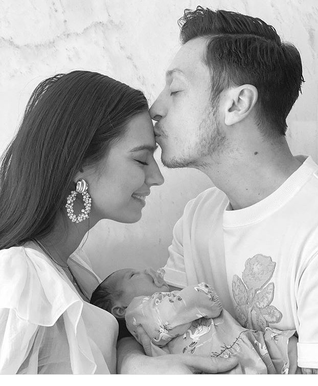 Ozil Announces Birth Of First Child With Wife