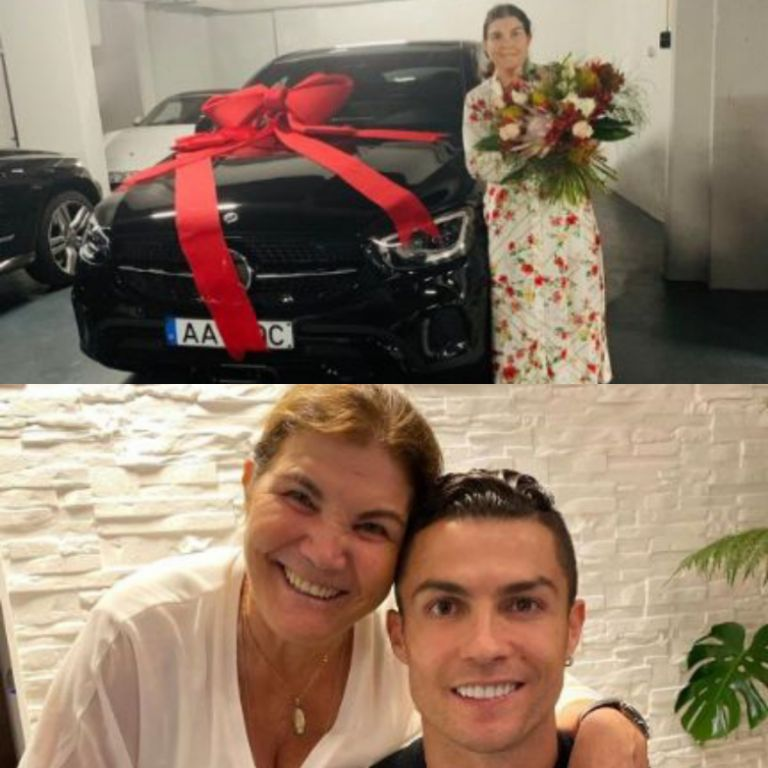 Ronaldo Gifts Sweet Mom Brand New Mercedes Car On Mothers' Day