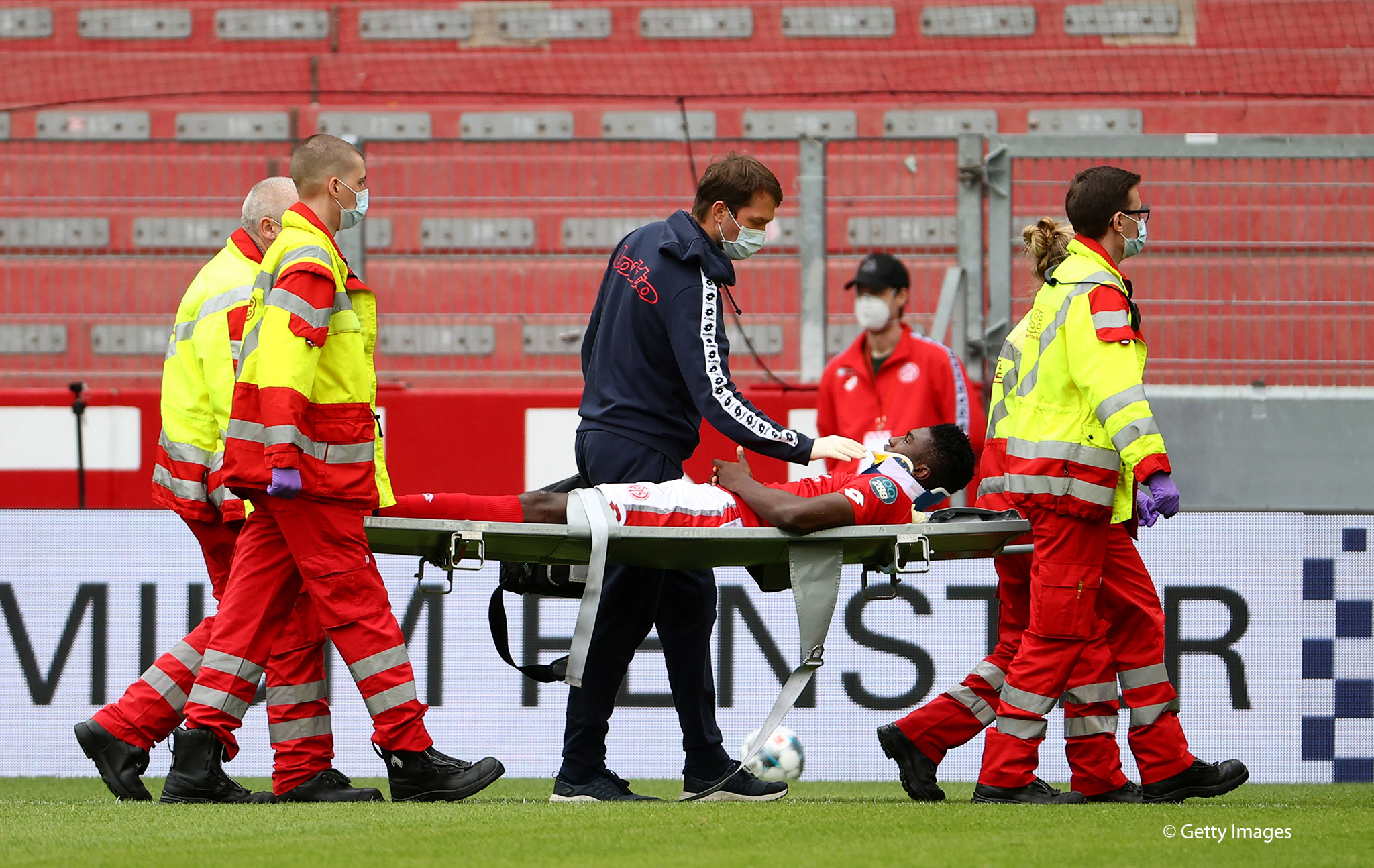 Bundesliga: Awoniyi Rushed To Hospital After Clash Of Heads In Mainz's Home Loss To Augsburg