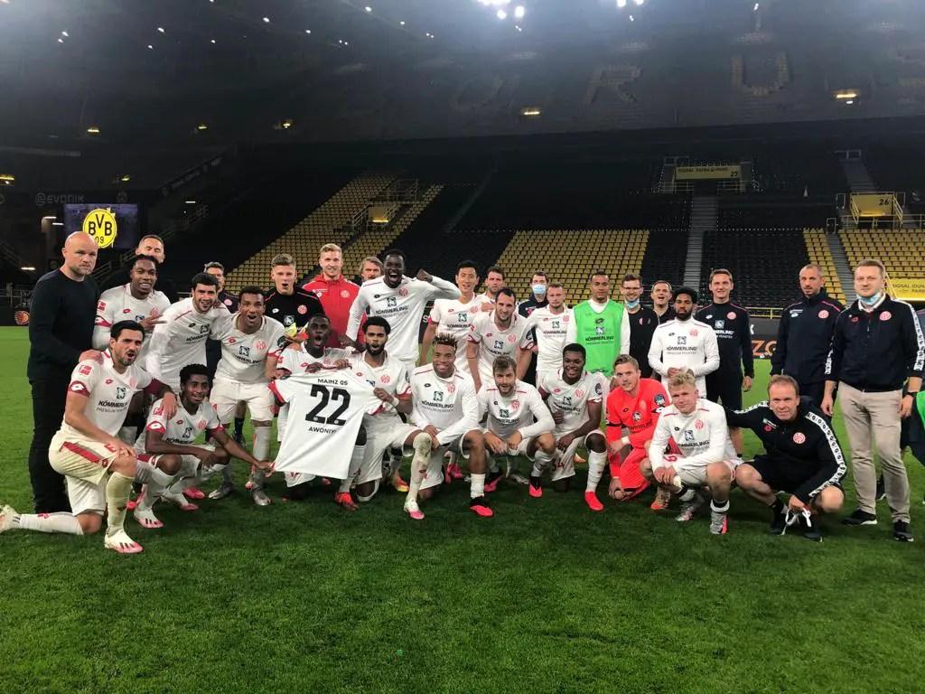 Bundesliga: Mainz Dedicate Away Win Against Dortmund To Awoniyi