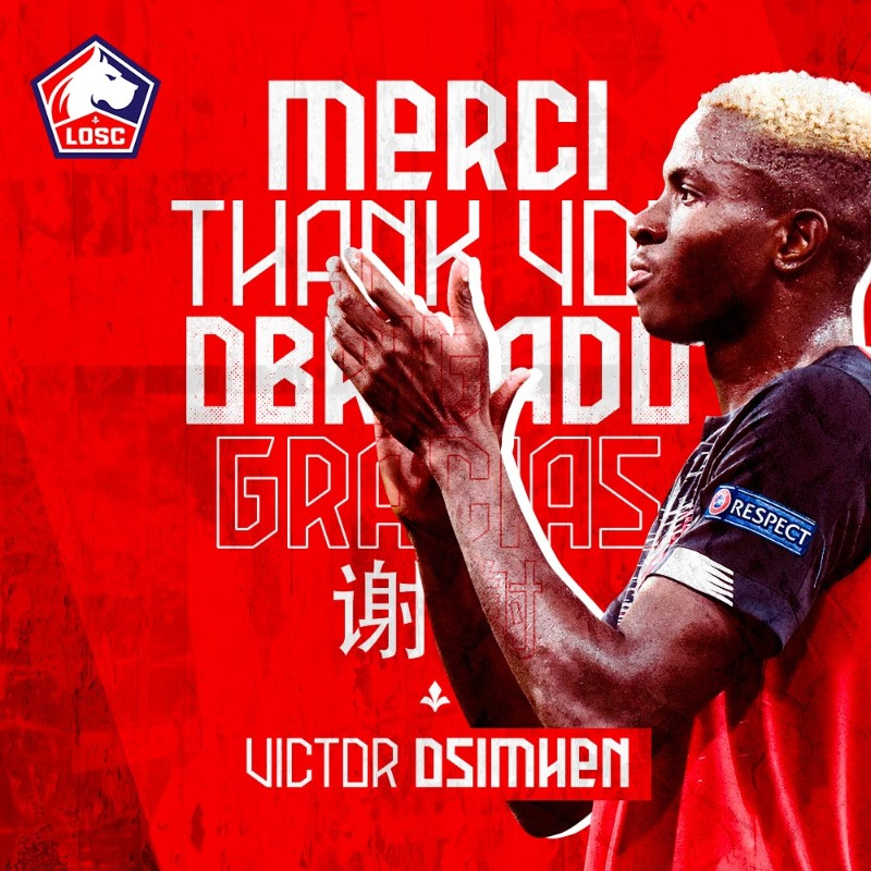Lille Wish Osimhen Best Of Luck At Napoli, Thankful For Memorable Stint