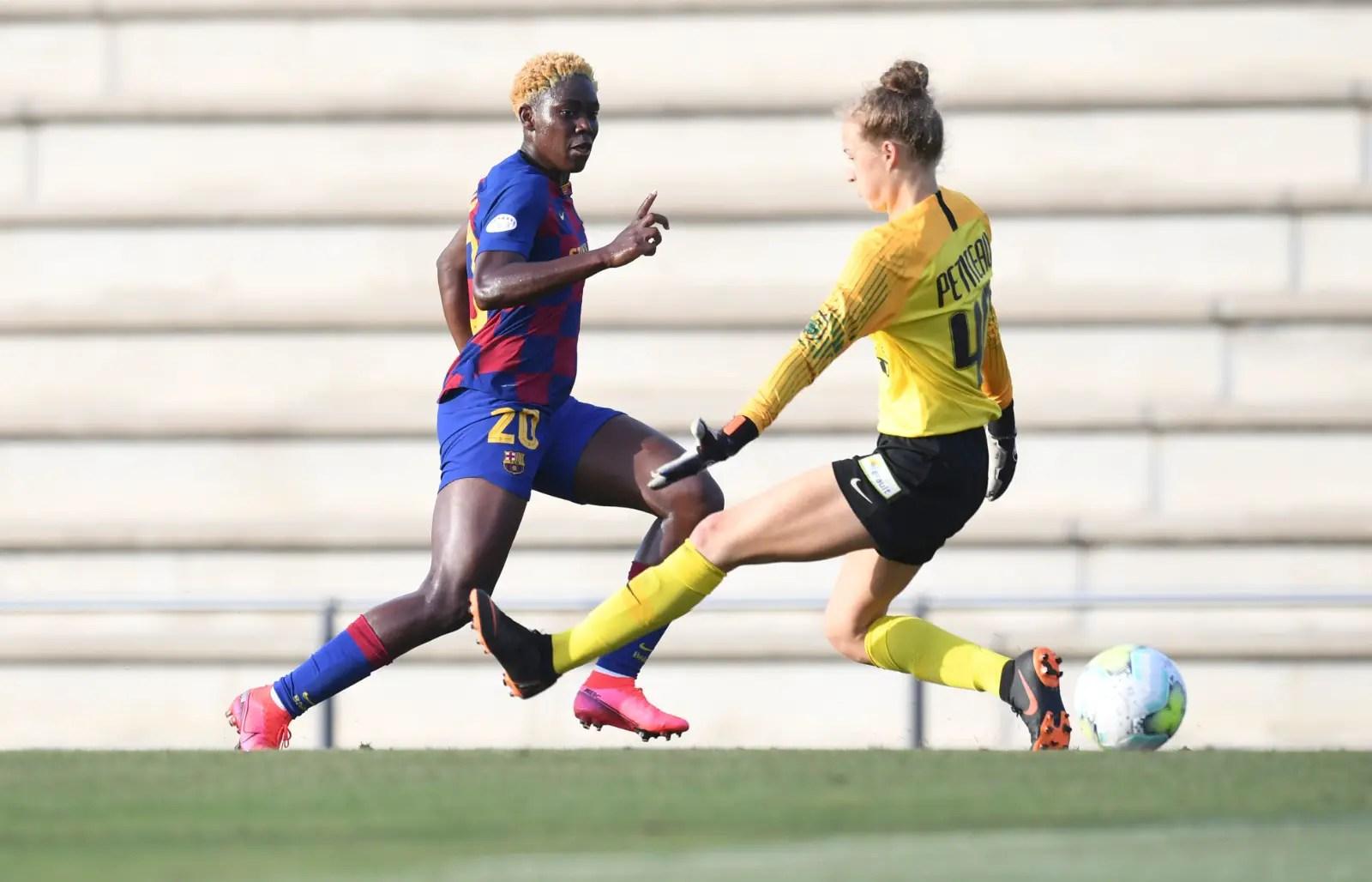 Oshoala Bags Brace In Barcelona Friendly Win Vs Montpellier